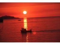 Giresun'da kartpostallık gün batımı