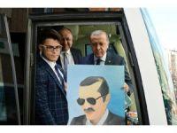 Üniversite öğrencisinden Cumhurbaşkanı Erdoğan'a tablo