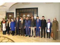 Üniversite Öğrenci Konseyi ve üniversite Ülkü Ocakları teşkilatı Rektör Bağlı'yı ziyaret etti
