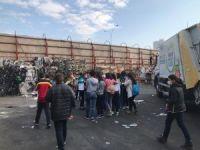 Maltepeli öğrenciler atık toplama tesisinde