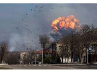Ukrayna'da askeri mühimmat deposu patladı