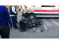 Edirne'de motosiklet kazası : 1 ağır yaralı