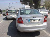 Aydın'da kaza; Kırmızı ışıkta araçlar birbirine girdi