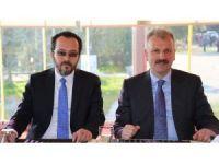 Oktay Saral, ADÜ Rektörü Prof. Dr. Cavit Bircan'ı ziyaret etti