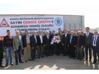 Başkan Ergün Soma'da temaslarda bulundu