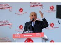 """Bahçeli: """"Kılıçdaroğlu ve hayırsız havarileri kabullenemiyorlar, 16 Nisan'da yıldırım yemişe dönecekler"""""""
