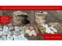 Şırnak'ta yaşam malzemesi ele geçirildi