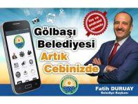 """""""Gölbaşı Belediyesi Mobil Uygulaması"""" hizmete girdi"""
