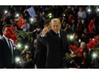 """Cumhurbaşkanı Erdoğan: """"Kılıçdaroğlu sen neredeydin, Atatürk Havalimanında kaçıyordun"""""""