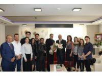 Başkan Ergün, tiyatrocuları ağırladı