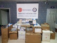 Silivri'de bir evde 32 bin paket kaçak sigara ele geçirildi