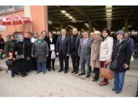 Başkan Yağcı'dan kapalı pazar ziyareti