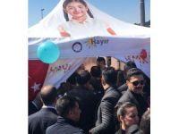 """Cumhurbaşkanı Erdoğan """"hayır"""" çadırına girdi"""