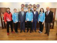 Başkan Karabacak, Balkan şampiyonlarını ağırladı