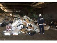 İzmir'de 6,5 milyon TL'lik kaçak sigara imha edildi