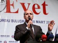 Başbakan Yardımcısı Kurtulmuş: PKK'dan yaka silken Kürt kardeşlerimiz 'evet'le hadlerini bildirecek