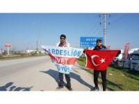 """""""Kardeşliğe Evet"""" için 37 gündür yollardalar"""