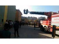 Okul pansiyonunda yangın tatbikatı