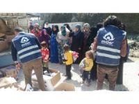HAYDER'in yardım konvoyu Suriye'ye ulaştı