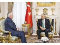 Başbakan Yıldırım, ABD Dışişleri Bakanı Tillerson'u kabul etti