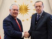 Erdoğan ile Tillerson terörle mücadeleyi görüştü