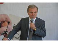 Eski TBMM Başkanı Şahin, referandum çalışmalarına devam ediyor