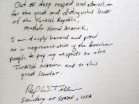 ABD Dışişleri Bakanı Tillerson Anıtkabir'i ziyaret etti