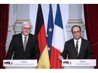 """Hollande: """"Avrupa Birliği'nin inşasında iki ülkenin büyük emeği var"""""""