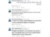 Cumhurbaşkanı Erdoğan, Regaip kandilini 8 ayrı dilde kutladı