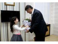 Rektör Polat, koltuğunu Ceylin Yılmaz'a devretti