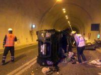 Artvin'de tünel içinde Kaza: 3 yaralı