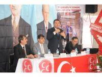 MHP Oğuzeli İlçe kongresinde Muharrem Özsert yeniden başkan seçildi