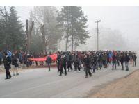 Bolu'da 57. Alay Vefa Yürüyüşü'ne yüzlerce kişi katıldı