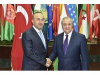 Bakan Çavuşoğlu Özbek mevkidaşıyla görüştü