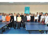 Öğretmenlerin masa tenisi heyecanı son buldu