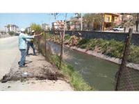 Aksaray'da sulama kanalı telleri yenileniyor