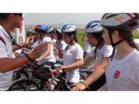 Kızıltepe de ilk defa bisiklet yarışı düzenlendi