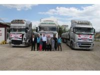 Elazığ'dan Suriye'ye 3 tır yardım
