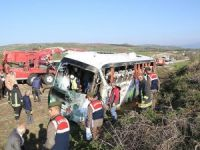 Çorum'da yolcu otobüsü devrildi: 1 ölü, 38 yaralı