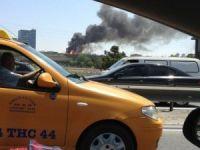 TEM Otoyolu yakınında yağ deposunda yangın