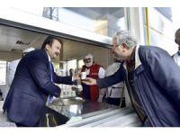 Başkan Erkoç'tan çorba ikramı