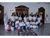"""""""Lider Çocuk Tarım Kampı"""" öğrencilerinin sertifika heyecanı"""