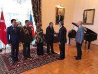 Cumhurbaşkanlığı Başdanışmanı Topçu, Azerbaycan Cumhuriyet Bayramı resepsiyonuna katıldı