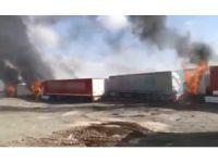 Tendürek'te PKK'lı teröristler araçları yakıp kaçtı