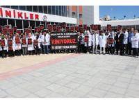 Hastane çalışanlarından başhekime saldırıya kınama