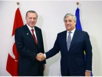 Cumhurbaşkanı Erdoğan, AP Başkanı Tajani'yi kabul etti