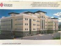 Ümraniye Madenler Mahallesi'ndeki Anadolu İmam Hatip Lisesi'nin çalışmaları devam ediyor