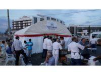 Adıyaman Belediyesi, hastane önünde iftar çadırı kuruyor