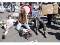 NATO Zirvesi ve Trump Brüksel'de protesto edildi
