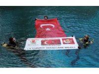 15 Temmuz şehitleri anısına Gökpınar Gölü'ne tüplü dalış